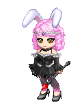 pink hot fire bunny