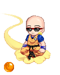 Krillin With Glasses Bl