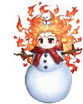 Flaming Snowman