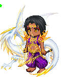 purple chibi demon